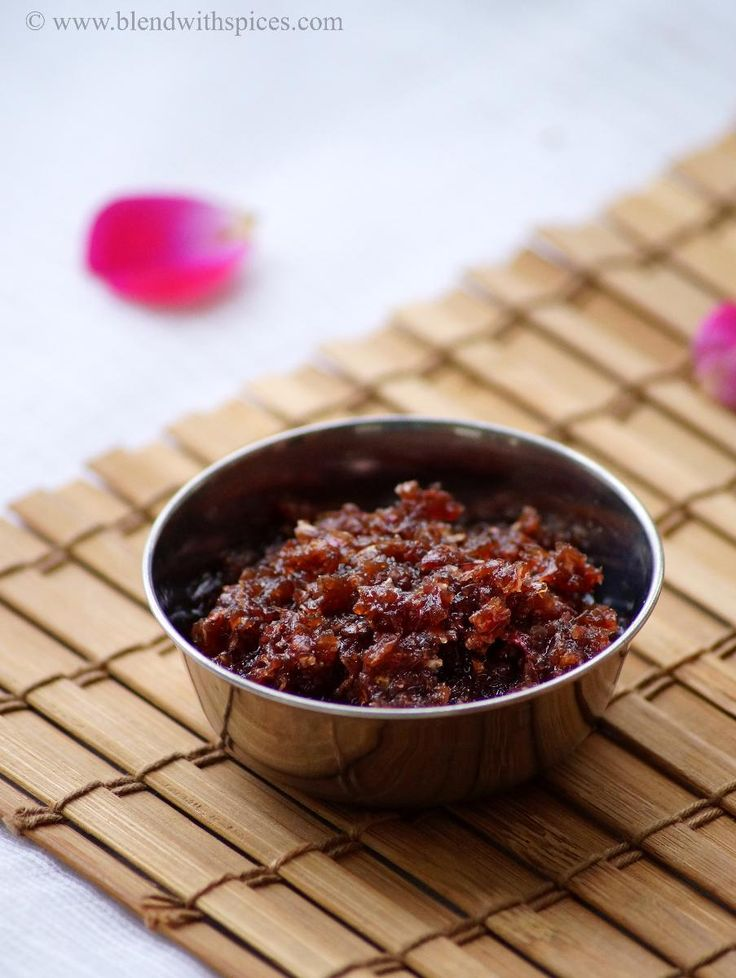 Gulkand Recipe - How to make Gulkand at home - Rose Petal Preserve Recipe | Indian Cuisine