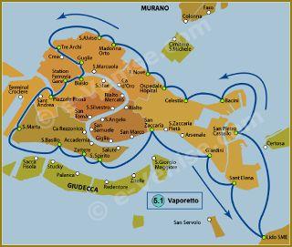 Pour accéder au Plan des Lignes de Vaporetto à Venise