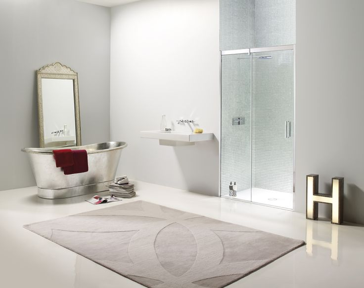 metallic bathroom accessories. Matki EauZone Plus Sliding door for recess  elegant solution a stylish finish pictured here with contrasting metallic bathroom accessories and mosaic 31 best Collection images on Pinterest