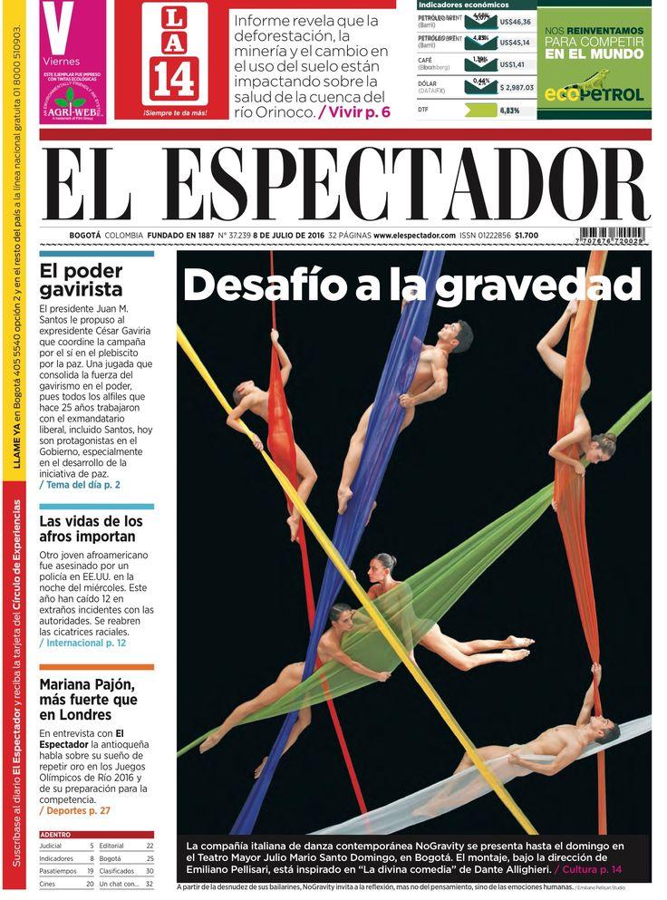 Desafiío a la gravedad. 7/8/2016,EL ESPECTADOR(Bogota, Colombia)