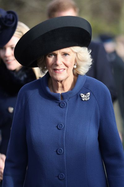 Camilla Parker Bowles Photos Photos - Camilla, Duchess of Cornwall attends a Christmas Day church service at Sandringham on December 25, 2016 in King's Lynn, England. - The Royal Family Attend Church On Christmas Day