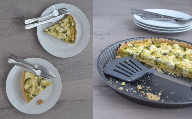 Deze broccoli taart is gemaakt met een bodem van havermout, amandelmeel en kokosolie. Perfect voor een feestje... Heerlijk smullen en toch super gezond!