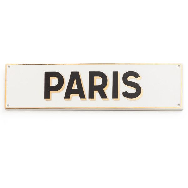 Rosanna Chez Elle Paris Sign (69.285 COP) ❤ liked on Polyvore featuring home, home decor, wall art, filler, quote wall art, word wall art, parisian home decor, text signs and parisian wall art