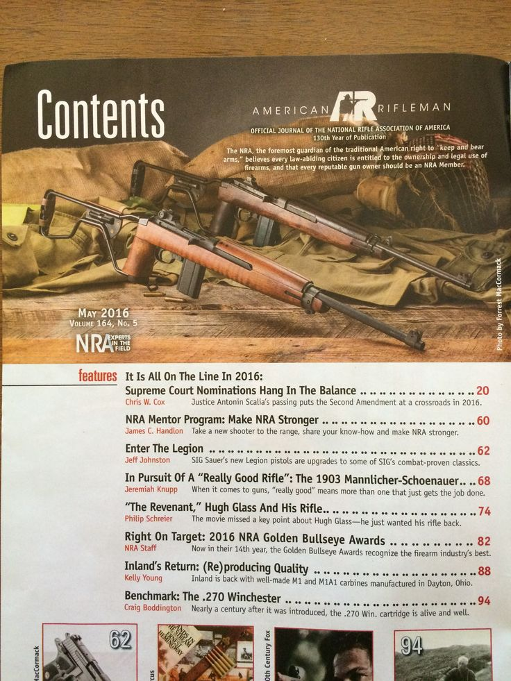 Photo of a rifle in NRA magazine, looks like reproduction m1a