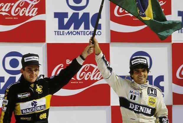 A última dobradinha de pilotos brasileiros correndo em casa. GP do Brasil de 1986!! Clique e mate a saudade dos bons tempos da F-1.