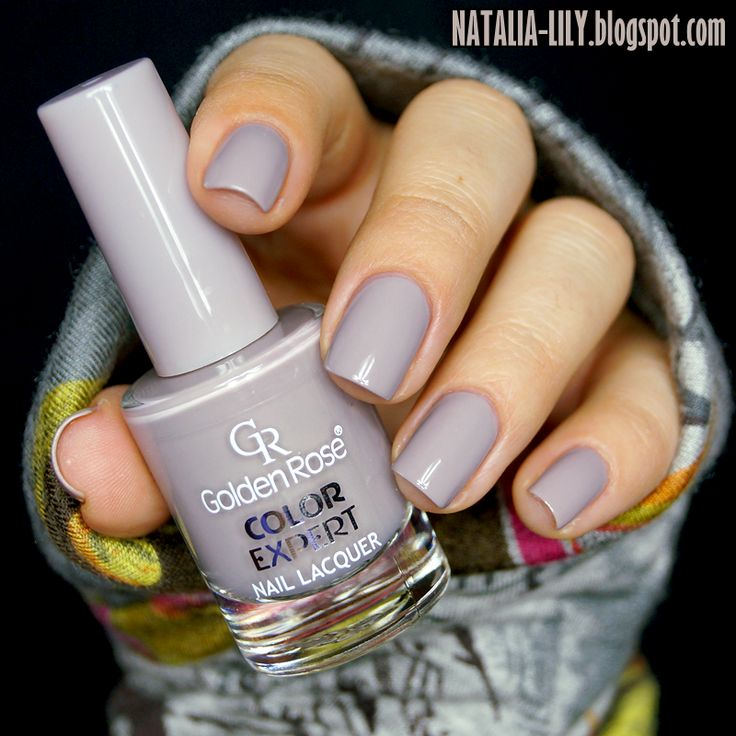 Popielate lato z Color Expert Nail Lacquer Nr 99.