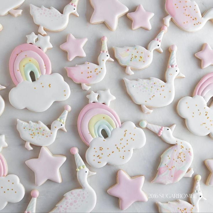 Cookies With Unicorns Faeries Perfect For Baby Shower