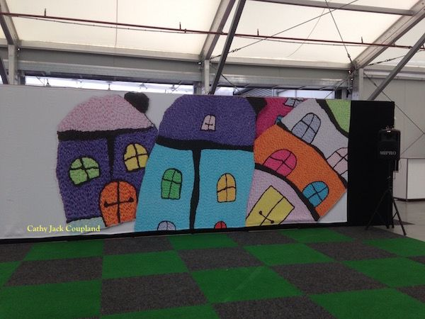 Image of my Happy Houses used by Expertise Events at the Sydney Craft and Quilt Fair 2016.