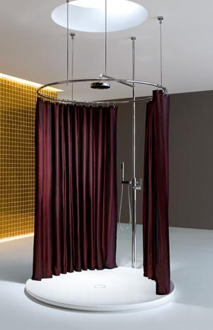 Der Duschvorhang Aufhängesysteme und Modelle Schöner