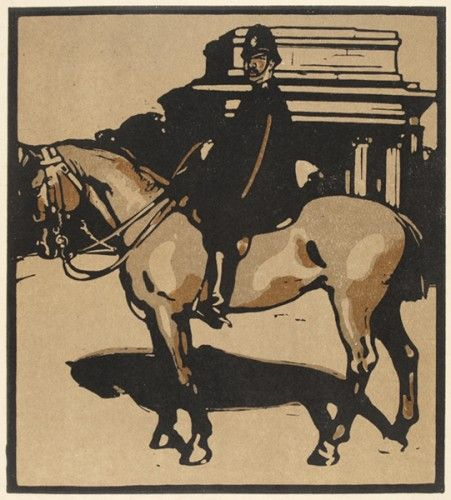 William Nicholson Policeman #lithograph #londontypes #horse