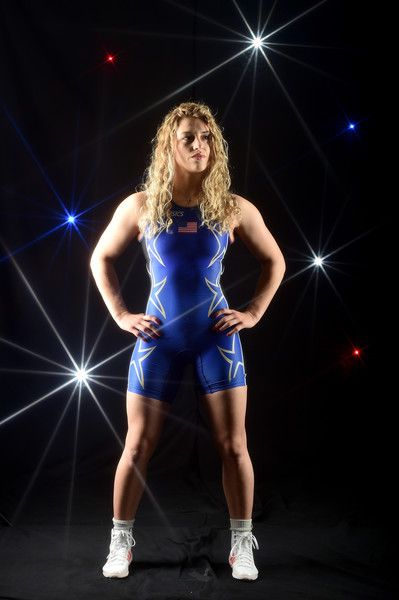 Helen Maroulis Photos - A special effects camera filter was used for this image.).Wrestler Helen Maroulis poses for a portrait at the 2016 Team USA Media Summit at The Beverly Hilton Hotel on March 9, 2016 in Beverly Hills, California. - 2016 Team USA Media Summit - Portraits