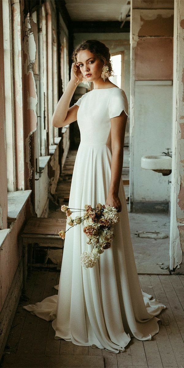 Romeo Take Me Somewhere We Can Be Alone In 2020 Simple Wedding Dress With Sleeves Wedding Dress Guide Wedding Dresses Simple