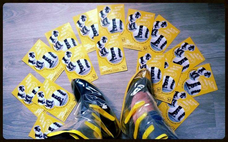 Uno speciale ringraziamento a Footzyfold Italy & RainUP, che ci hanno omaggiati delle coloratissime ballerine avvolgibili e pieghevoli per gli spostamenti il giorno delle nozze e dei copriscarpe in caso di maltempo!  http://www.finchesponsornonvisepari.blogspot.it/2015/04/uno-speciale-ringraziamento-footzyfold.html  #finchesponsornonvisepari #saraheluciano #20giugno2015 #savethedate #nozzeconsponsor #rainup #footzyfolds #footzyrolls #matrimonio #wedding