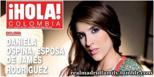 James Rodriguez su esposa Daniela Ospina