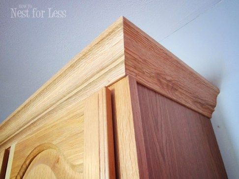 1000 ideas about updating oak cabinets on pinterest for Oak crown molding for kitchen cabinets