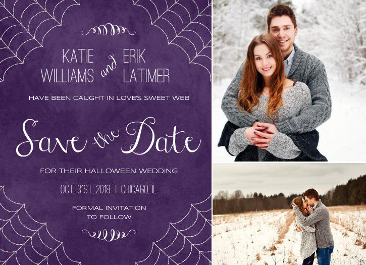 Best 25 Save the date examples ideas – Halloween Wedding Save the Dates