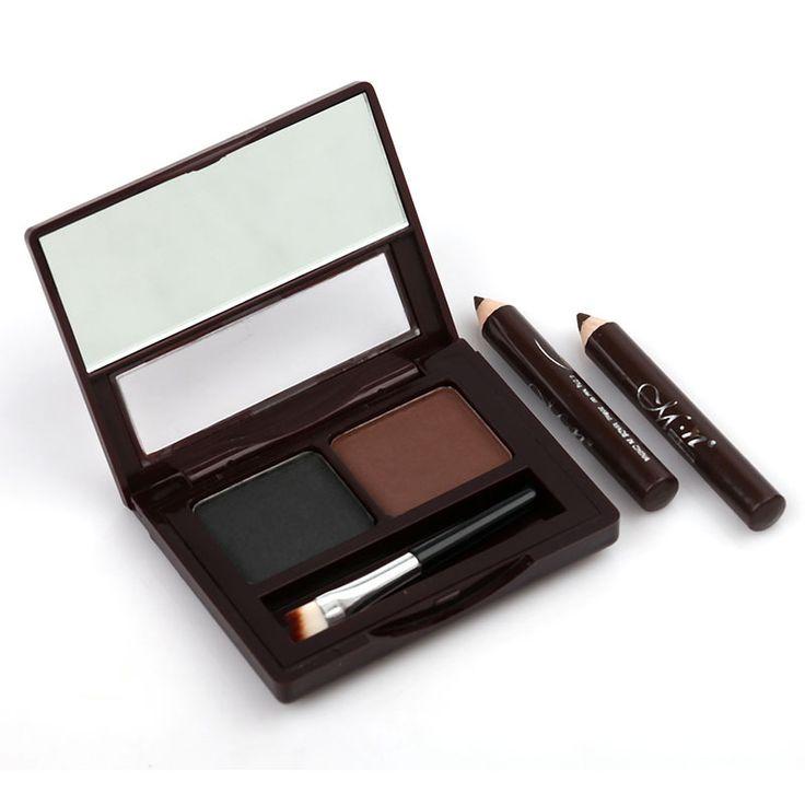 Buy 1 Get 3!!! Brand Brow Kit Eye Brow Palette With Brush + 2pcs Eyeliner Pencil Waterproof Professional Makeup Kit sobrancelha