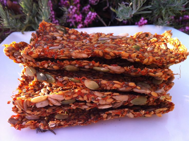 Crispy Mexican Vegetable Crackers (Raw Gluten Free)