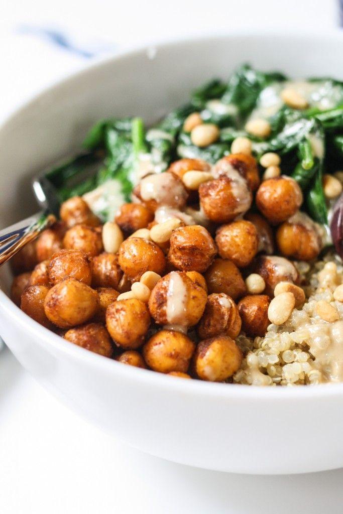 Roasted Chickpea Quinoa Bowl