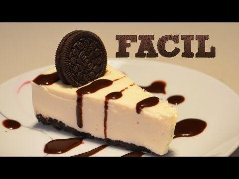 ▶ Cheesecake de Oreo SIN HORNO   Pay de queso Oreo   Pie de queso con galletas   Postres sin hornear - YouTube