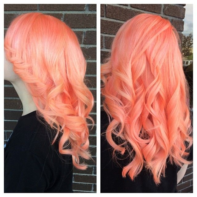Neon orange hair.... if this was possible for my hair without killing it... we should do this to it