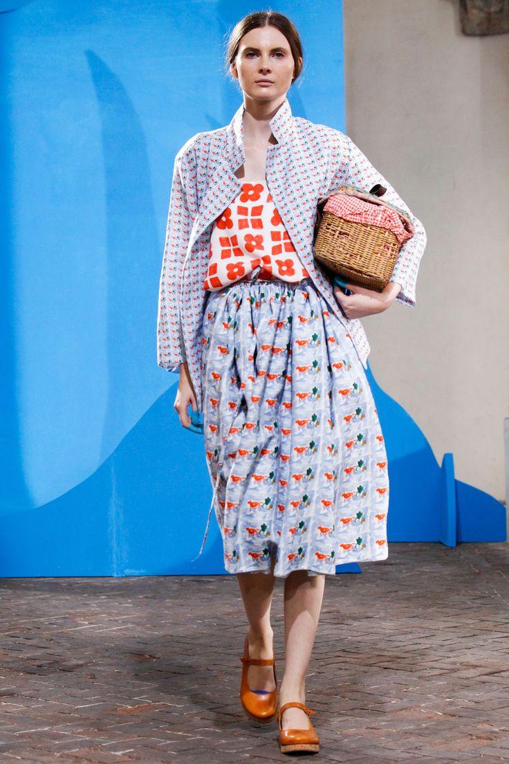 Daniela Gregis 2015 Love the patterns and colour combo