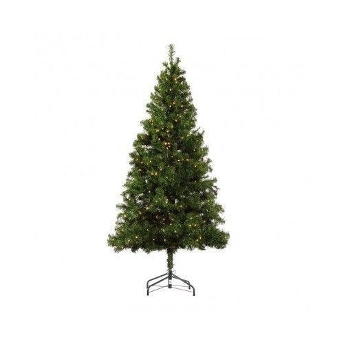 Artificial Christmas Tree 6 Feet Pre Lit 400 Bulbs 700 Tips Home Decoration