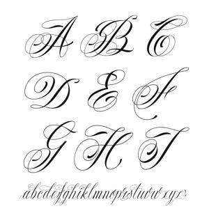 alfabeto tatuaggio