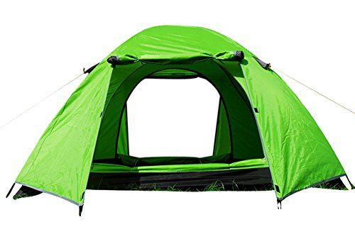 Generic Durable Outdoor Nylon 3 Person Tent Green ** Click image to review more details.