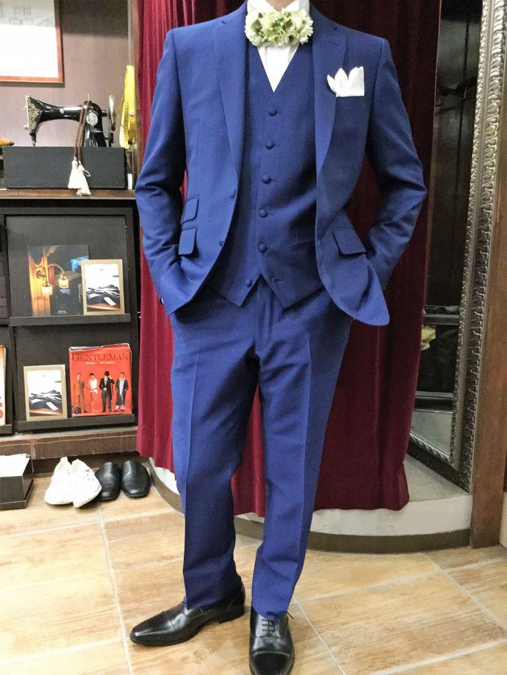 【ネイビー 新郎様衣装】|結婚式の新郎タキシード/新郎衣装はメンズブライダルへ