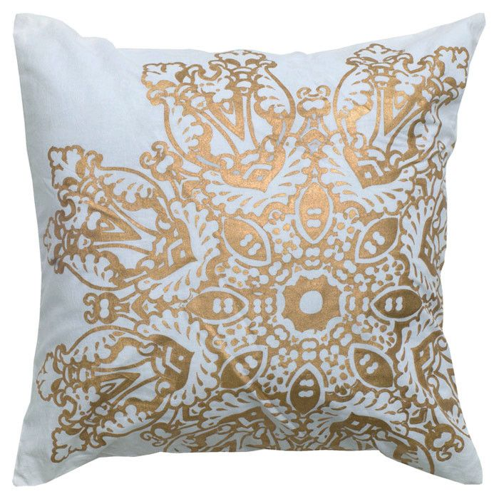 Rosette Pillow in Gold