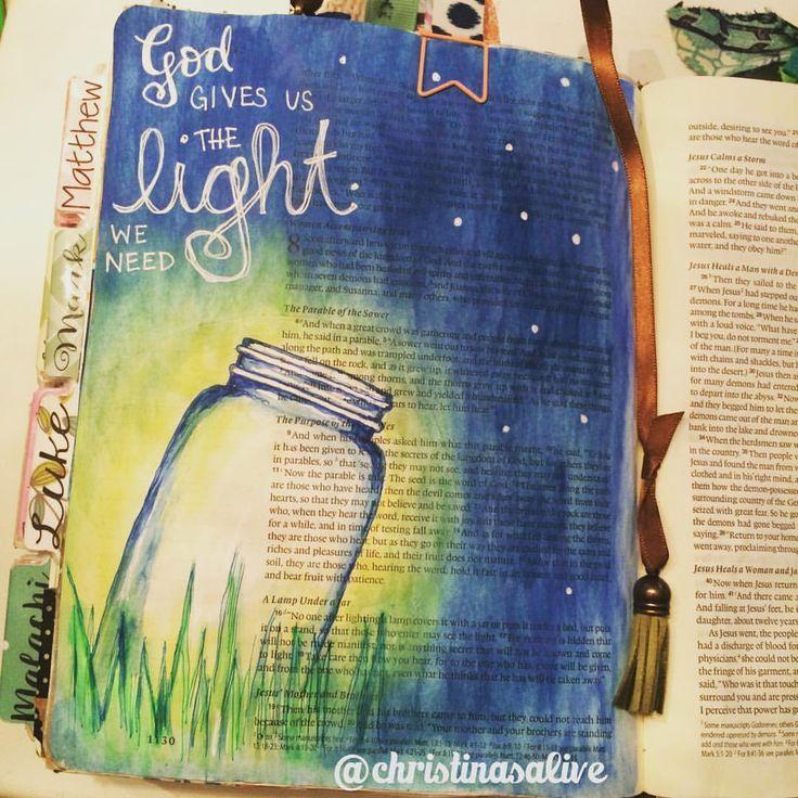 Gott gibt uns Licht Bibel Journaling Einmachglas   – Gott Taufe Jesus