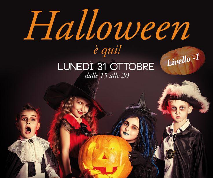 Lunedì 31 ottobre dalle 15 alle 20, festeggia #Halloween con noi. Insidie e sorprese ti aspettano nel favoloso villaggio Halloween Play. In più un divertente truccabimbi per diventare streghe, fantasmi e mostri.  Per tutti i bimbi dolcetti, succo di vampiro e regali da paura.  Vi aspettiamo al livello -1.