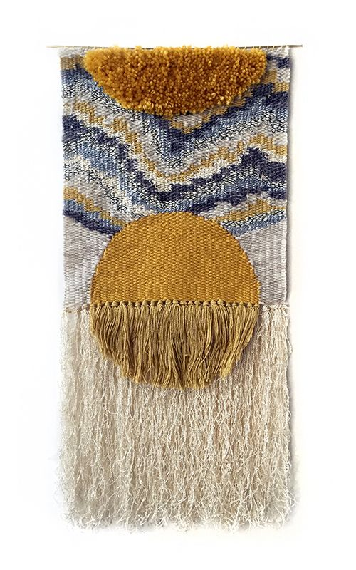 "blueberrymodern: "" Aten weaving by Rachel Gottesman of Heddle & Needle. "" ☆"