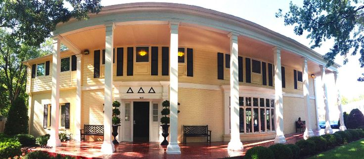 The Tri Delta house at University of Kansas houses 80 sisters!