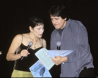 Roxann Dawson & Robert Beltran during Galaxy Ball 2001 to Benefit the Downs Syndrome Association of Los Angeles at Sheraton Universal Hotel in Universal City, California.