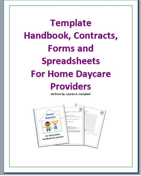 Best Daycare Binder Images On   Daycare Forms