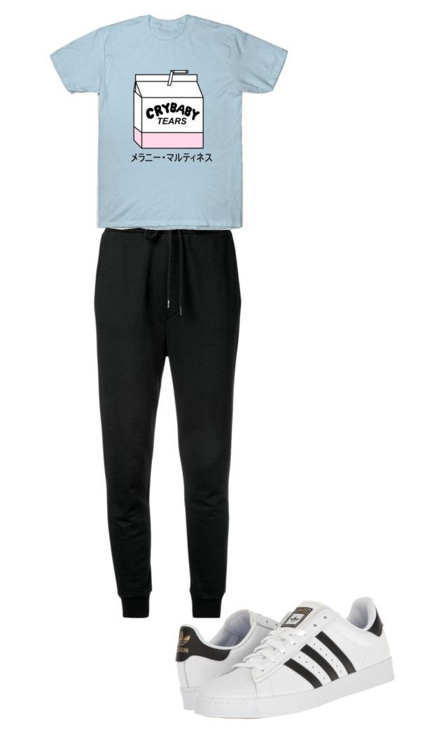 """""""Geen titel #76"""" by charlotteveenman on Polyvore featuring mode, Love Moschino en adidas"""