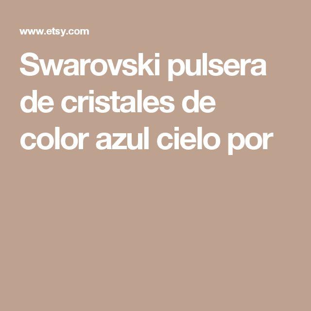 Swarovski pulsera de cristales de color azul cielo por