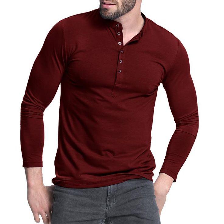 Men's Henley Shirt 2017 - Long Sleeve