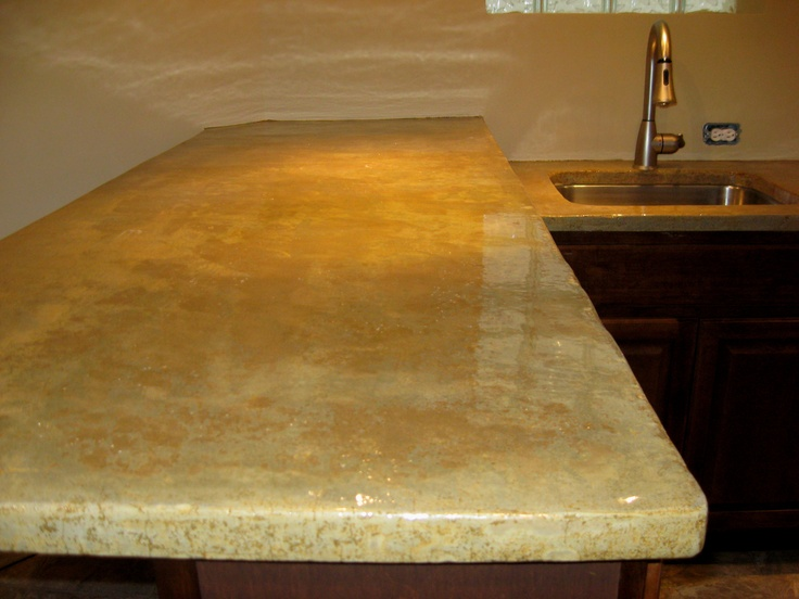LastiSeal Stain applied to concrete countertop kitchen