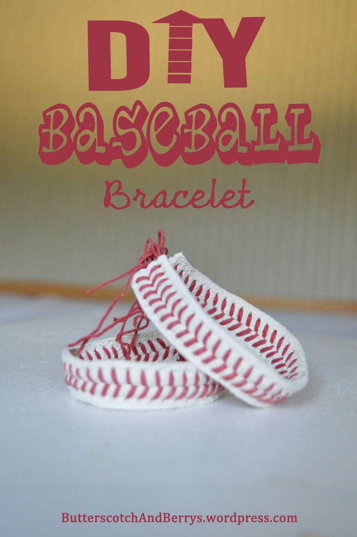 DIY Craft: DIY Baseball Bracelet