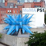 MoMA PS1: YAP: Wendy by HWKN  Outdoor structure that provides shelter, seating and water.