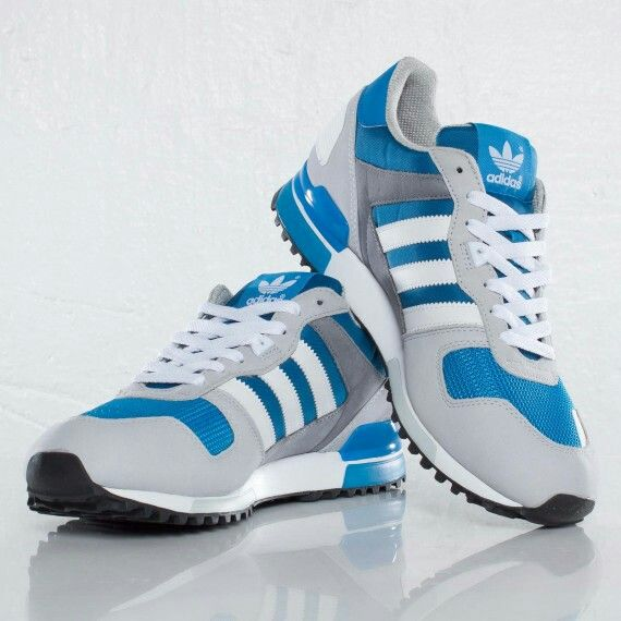 Adidas in steel, white and blue(s) look like a good tennis shoe