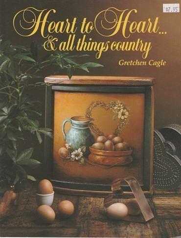 Corazón a corazón... una colección de país, por Gretchen Cagle, 1983 publicado por Gretchen Cagle publicaciones. Hay una etiqueta de precio de etiqueta en la cubierta y sellos rojo orientales en unas pocas páginas del propietario original. Corazón a corazón... y a todo el país las