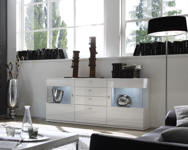 53 besten wei e hochglanz sideboards bilder auf pinterest hochglanz sideboard weiss hochglanz. Black Bedroom Furniture Sets. Home Design Ideas