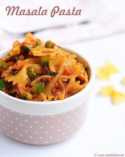 How to make Indian style spicy masala pasta recipe with step by step pictures!
