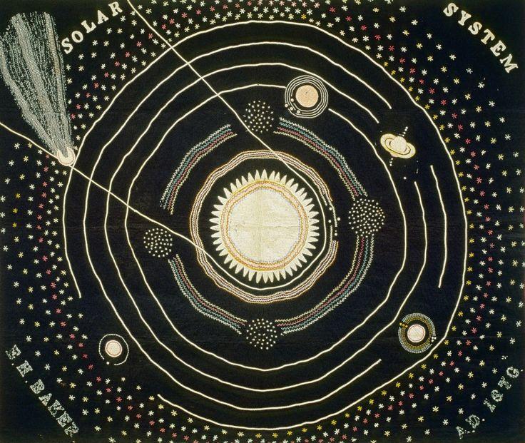 Ellen Harding Baker   Solar System Quilt   1876