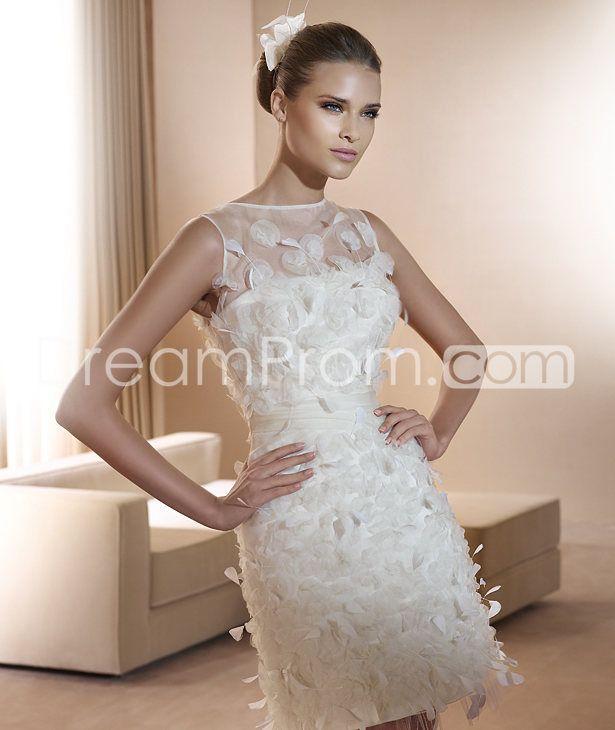 Luxurious Short/Mini Length Scoop  Wedding Dresses 2014 Spring Trends