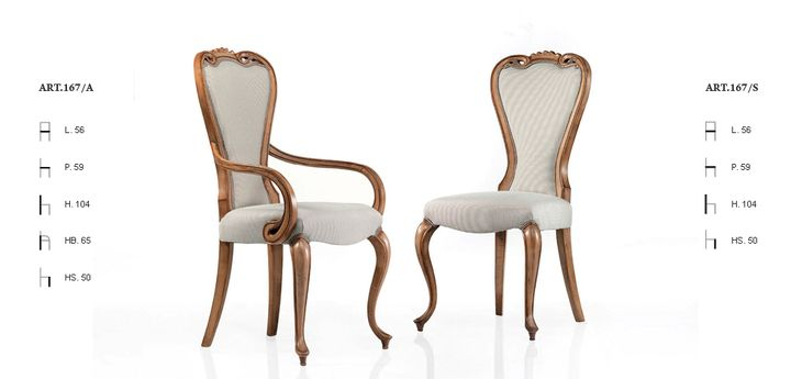 Klasszikus olasz szék 167 - www.montegrappamoblili.hu
